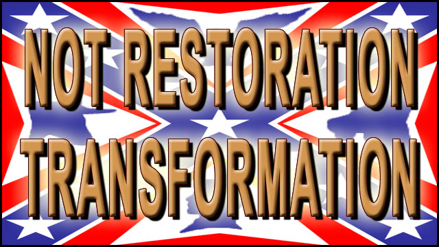 NOT RESTORATION – TRANSFORMATION video thumbnail